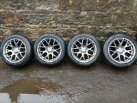 "Fox MS007 17"" alloy wheels with Vredstein Quatrac all season tyres - Audi/VW/Seat/Skoda fitment"