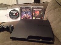 PLAYSTATION 3 with 250 gb hhd,3 games,HDMI cable,controller,controller charger cable good
