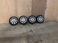 4x 17 Alloy wheels with tyres SKODA OCTAVIA LAURIN & KLEMENT 225/45ZR17 7.5jx17 ET51 5x112