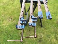 2 X Record 136 series Joiners Sash Clamps + Extensions.