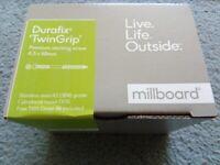 Millboard Durafix TwinGrip Premium decking screw 4.5 x 60 mm
