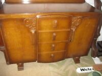 VINTAGE ORNATE STURDY SIDEBOARD. VIEWING / DELIVERY AVAILABLE