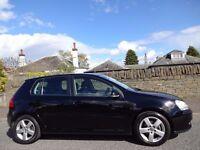 12 MONTH WARRANTY! (2007) VW GOLF 2.0 GT TDi SPORT 4MOTION 5dr BLACK- 1 Owner- Leather- Sat-Nav- FSH