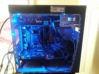 amd a 8 water cooled, GTX 760, 256 ssd, 8 gb ddr3 ,750W psu, 640 storage, rgb + 22 inch monitor