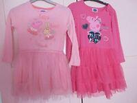 Peppa pig ballerina girls dresses age 3-4 years