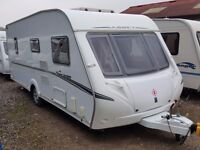 2008 Abbey Spectrum 418 4 Berth Fixed Bed Caravan with awning and all you need to go