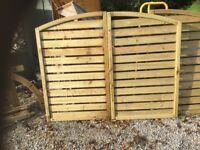 Pair of Gates. New. Tanalised Timber.