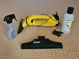 Karcher Kaercher WV60 Cordless Window Cleaner / Cleaning Vacuum 2 Attachments Concentrate & Bottle
