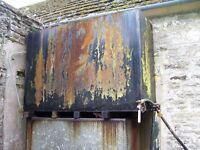 2 old oil tanks, 1 with tap