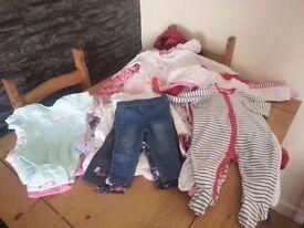 3-6 months girls clothes bundle 40+ items