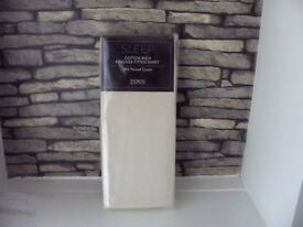 SLEEP COTTON RICH KING SIZE FITTED SHEET 180 THREAD COUNT CREAM BNIP TESCO 3 AVAILABLE
