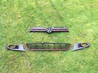 VW golf mk6 front grille set red stripe