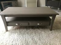 Grey Shabby Chic Coffee Table & TV Unit