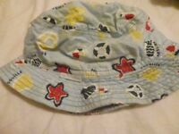 Selection of childrens winter and summer hats (various hats)