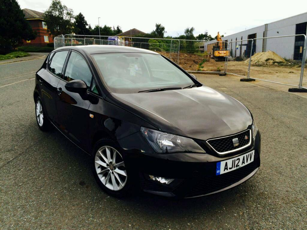 2012 seat ibiza 1 2 tsi fr 5 door manual black new shape low mileage 12 months top spec in. Black Bedroom Furniture Sets. Home Design Ideas
