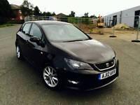 2012 SEAT IBIZA 1.2 TSI FR 5 DOOR MANUAL BLACK NEW SHAPE LOW MILEAGE 12 MONTHS TOP SPEC