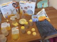 Medela Swing breastpump with lots of extras