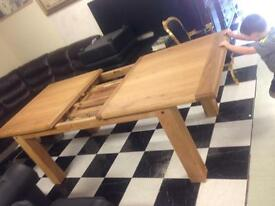 Solid oak extending table donny range new