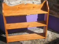 Pine shelves - measure approx 30 inches x 30 x 6.5. Good condition