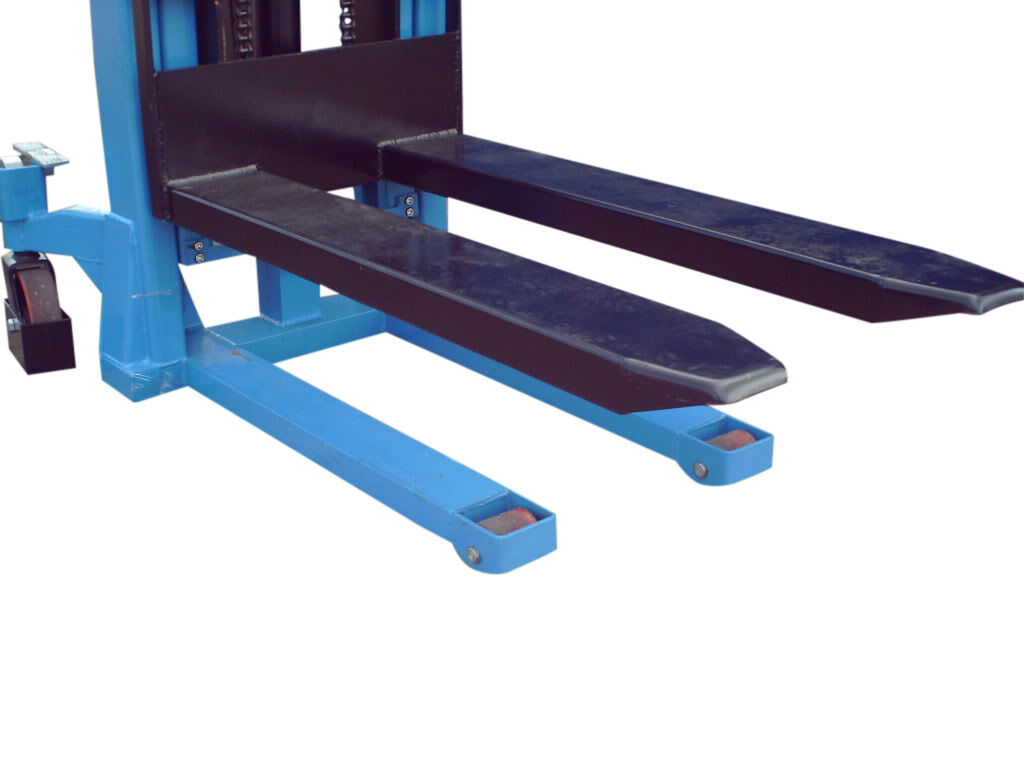 HAND STACKER 1.6M HIGH FORK LIFT PALLET TRUCK 1 TONNE