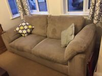 DFS Brandon Cordruoy Sofas. (3 seater sofa bed, 2 seater sofa and single chair)