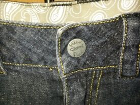 Cropped denim Jeans by Weird Fish size 8