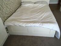 £60 - White Double Bed Frame. Under Storage.