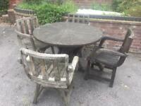 Wagon Wheel Table & Chairs