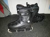 No Fear Black Roller Skates UK size 8