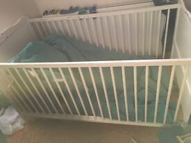 Cot bed transferable to toddler bed