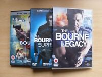 THE BOURNE IDENTITY,THE BOURNE SUPREMACY,THE BOURNE LEGACY DVDS
