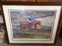 Horse racing picture 'Nashwan' framed