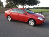 2005 Nissan Primera 24500 miles with mot and full Nissan dealer service history.