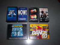 Vintage Cassette Tapes 1980's and 1990's Pop and Dance Boxed and Unboxed