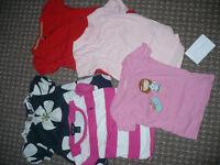Bundle of 6 short sleeve tops/t-shirts for girl 3-4 years old. Gap, Next, TU, Ralph Lauren.