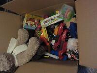 Large box of kids toys