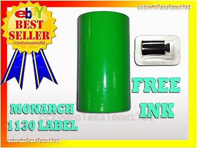 Fluorescent Green Label For Monarch 1130 Pricing Gun 1 Sleeve10 Rolls