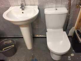 Wash basin & toilet