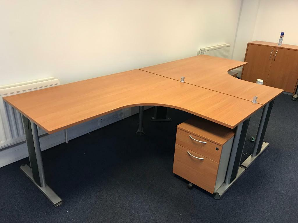 Office Furniture Package 8 Desks Managers Desk 6 Drawer Packs Storage Units
