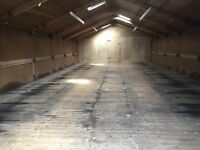 Storage space available approximately 50ft X 25ft price dependent on use. Secure unit easy access
