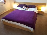 IKEA Malm double bed (and slats)... including free bedside tables!