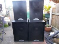 Complete set of four Martin Blackline speakers.