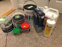Paint PVA glue polyfilla and other bits