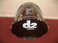 "DRUMS , DDrum D2 Bass Drum 22"" / Metallic Red."