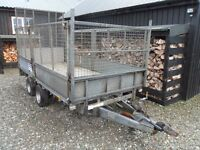 Ifor Williams LM 12 ft x 5.6 ft Trailor, Caged Sides and Full Height Tail Gate