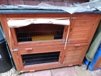Double layer Outdoor Pet Hutch suitable for Guinea Pig's