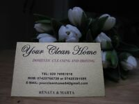 YOUR CLEAN HOME/domestic cleaning & ironing