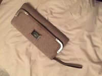Grey river island clutch bag