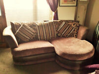 SETTEE WITH MATCHING CHAIR & SCATTER CUSHIONS must go!!!! BARGAIN!!!