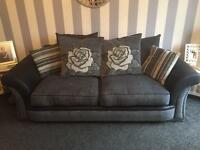 2 four seater sofas excellent condition less than a year old still with insurances